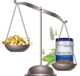 BenVia Gold chia seeds vs fish oil