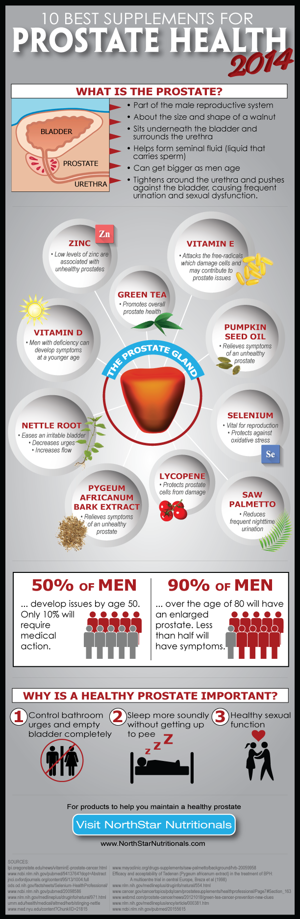 prostate health supplements infographic